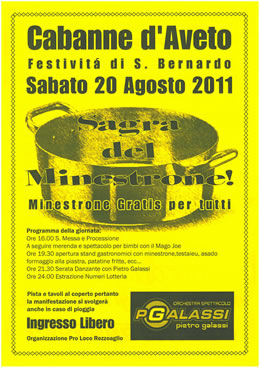 Sagra del minestrone 2011 - La locandina