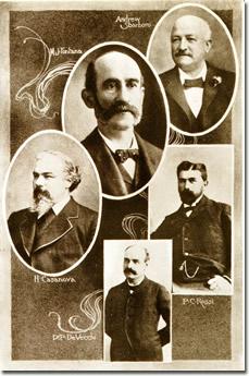 Mark J. Fontana (in alto, al centro) ed altri emigranti famosi