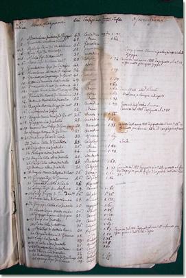 Lista degli abitanti del comune di S. Stefano d'Aveto suscettibili d'esser chiamati al servizio nella Guardia Nazionale - Anno 1808