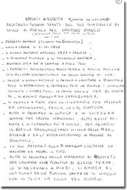 Luigi Scalbi: la prima pagina degli appunti presi durante l'intervista