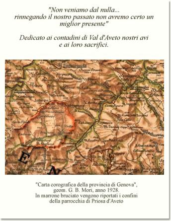 Carta corografica della provincia di Genova, geom. G. B. Mori, anno 1928