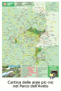Cartina delle aree picnic nel Parco dell'Aveto (formato .pdf, 835 KB)