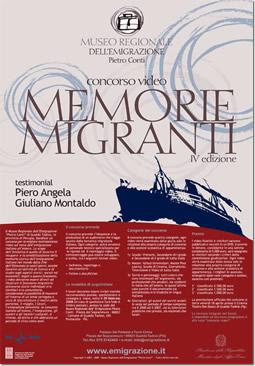 Locandina del IV concorso video 'Memorie Migranti'