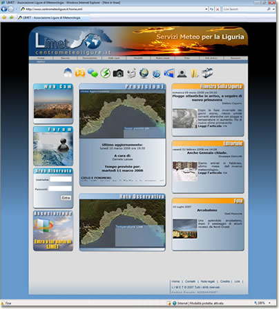 Il sito della Associazione Ligure di Meteorologia
