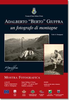 Locandina della mostra 'Adalberto Berto Giuffra - Un fotografo di montagne'