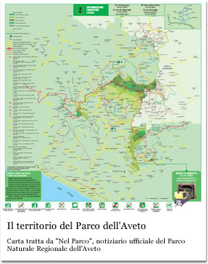 Il territorio del Parco Naturale Regionale dell'Aveto