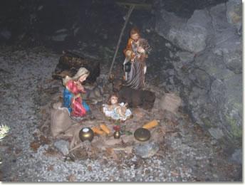 La natività nella grotta a Rezzoaglio