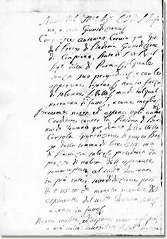 Documento della pretura di Santo Stefano d'Aveto
