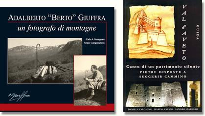 Copertine di pubblicazioni riguardanti la Val d'Aveto