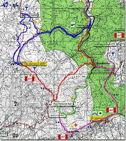 Anelli tra Ventarola e il Monte Ramaceto